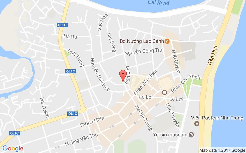 Vị trí bản đồ Cổng Chợ Đầm, Bến Chợ Tp. Nha Trang Khánh Hoà