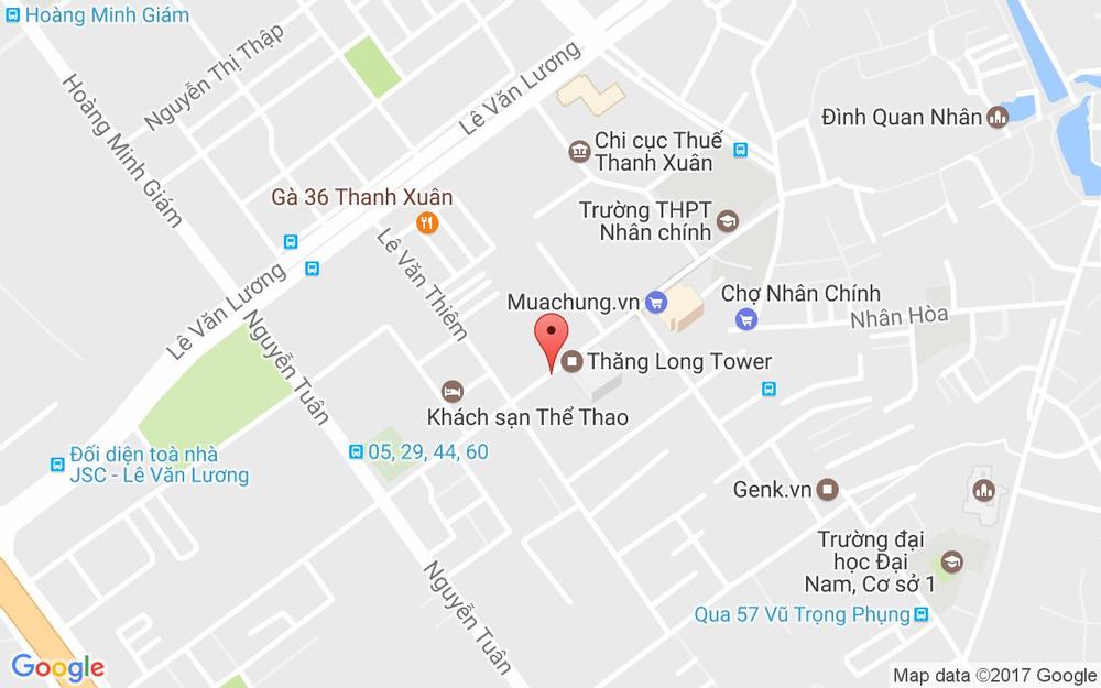 Vị trí bản đồ 98 Ngụy Như Kon Tum Quận Thanh Xuân Hà Nội
