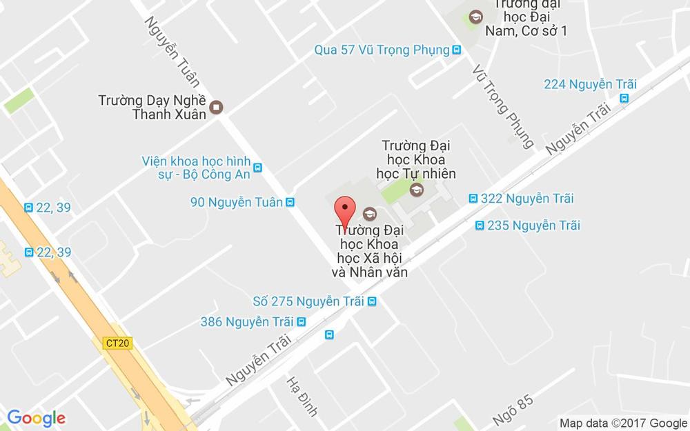 Vị trí bản đồ Ngõ 336 Nguyễn Trãi Quận Thanh Xuân Hà Nội