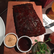 Slow cooked barbeque ribs