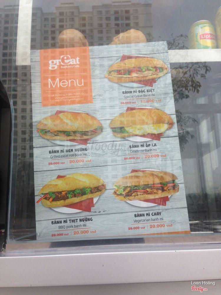 Great - Bánh Mì & Cafe - Times City ở Hà Nội