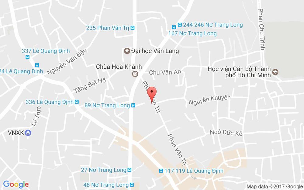 Vị trí bản đồ 165 Phan Văn Trị, P. 14 Quận Bình Thạnh TP. HCM
