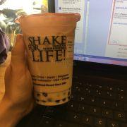 Hokkaido milk tea. Món này ngọt quá, không thích chút nào