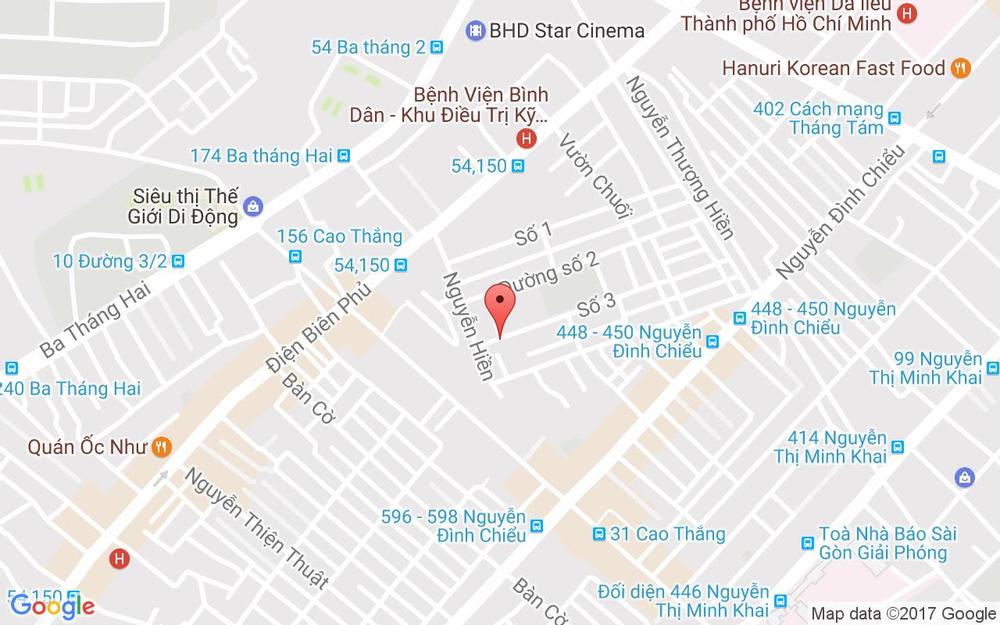 Vị trí bản đồ 117 Đường Số 3, Cư Xá Đô Thành, P. 4 Quận 3 TP. HCM