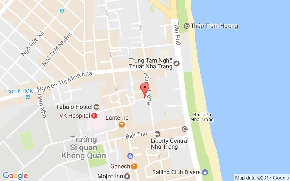 Vị trí bản đồ 100/08 Hùng Vương Tp. Nha Trang Khánh Hoà