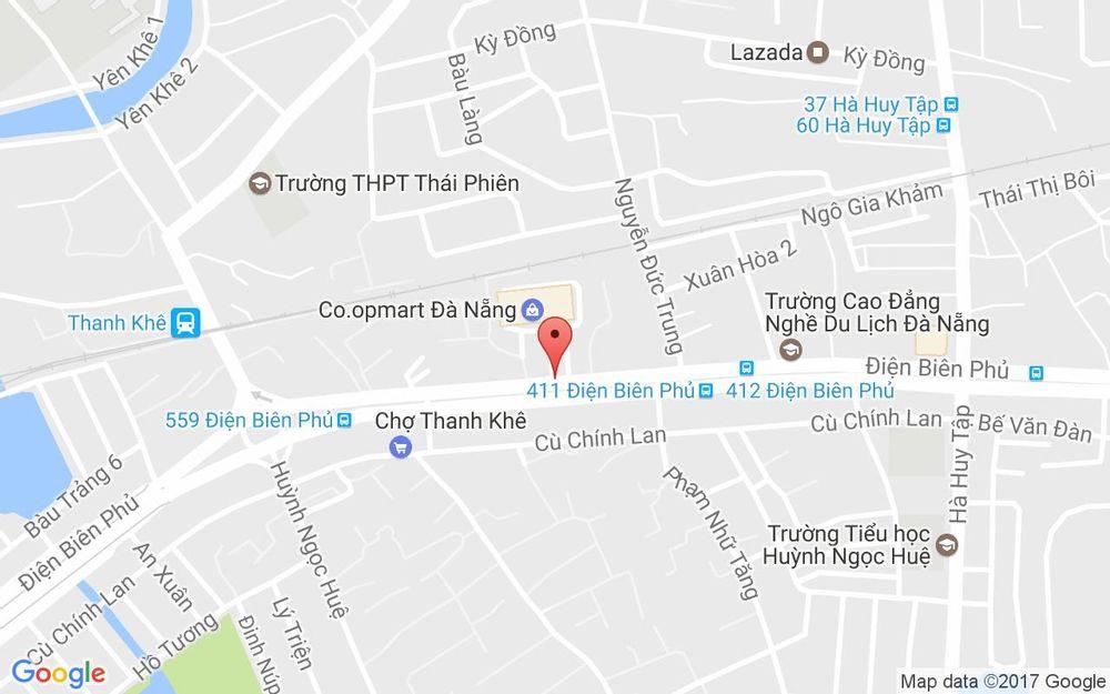 Vị trí bản đồ Cao Đẳng Nghề Việt - Úc - Điện Biên Phủ ở Đà Nẵng