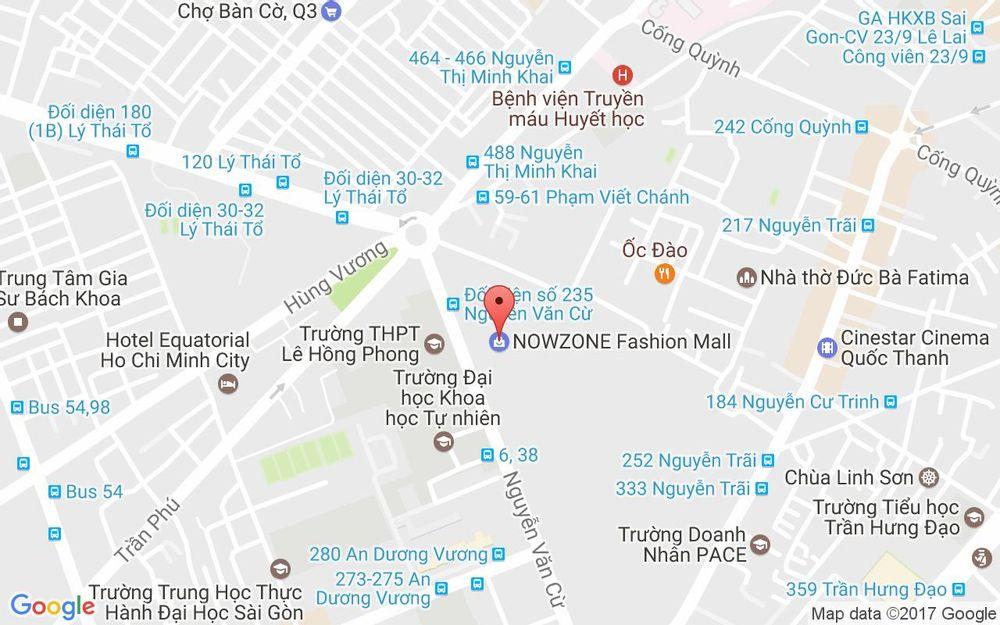 Vị trí bản đồ 235 Nguyễn Văn Cừ, P. Nguyễn Cư Trinh Quận 1 TP. HCM