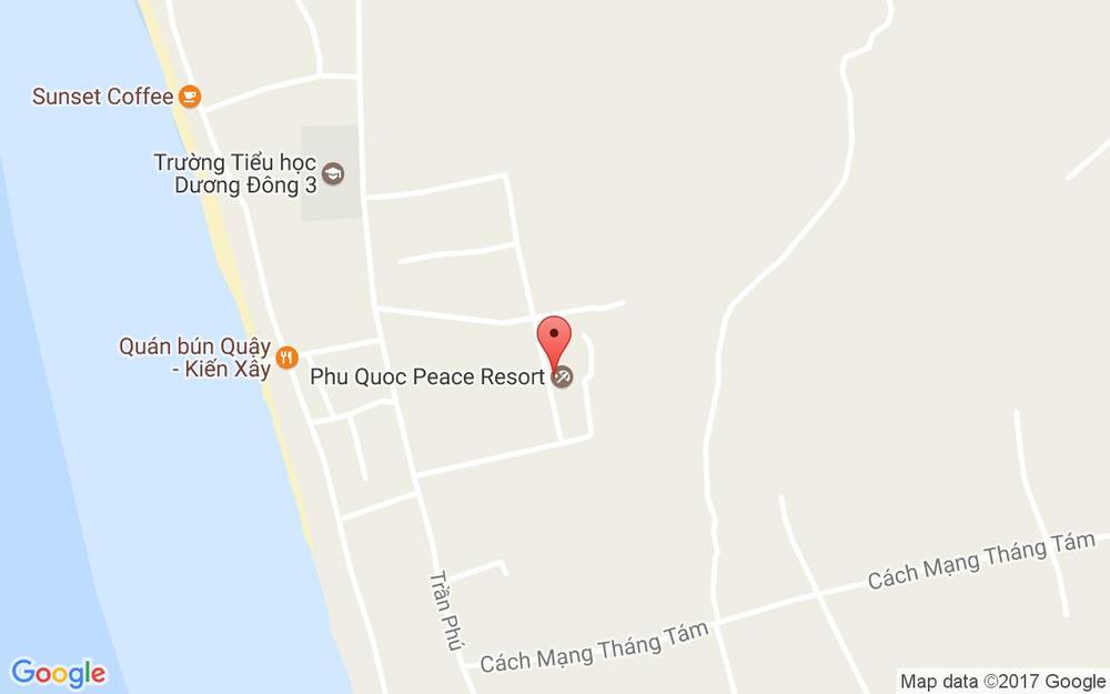Vị trí bản đồ Peace House - Homestay ở Phú Quốc