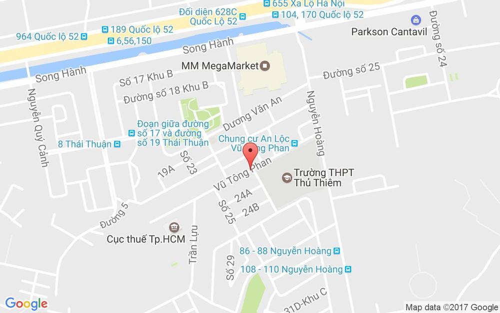 Vị trí bản đồ 8 Vũ Tông Phan, P. An Phú Quận 2 TP. HCM