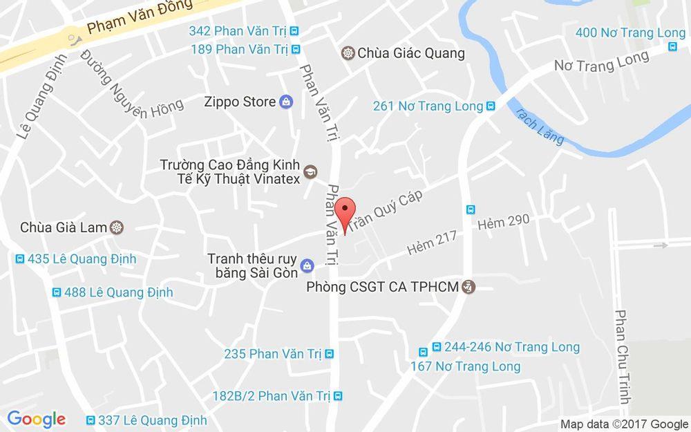 Vị trí bản đồ 43 Trần Quý Cáp, P. 12 Quận Bình Thạnh TP. HCM