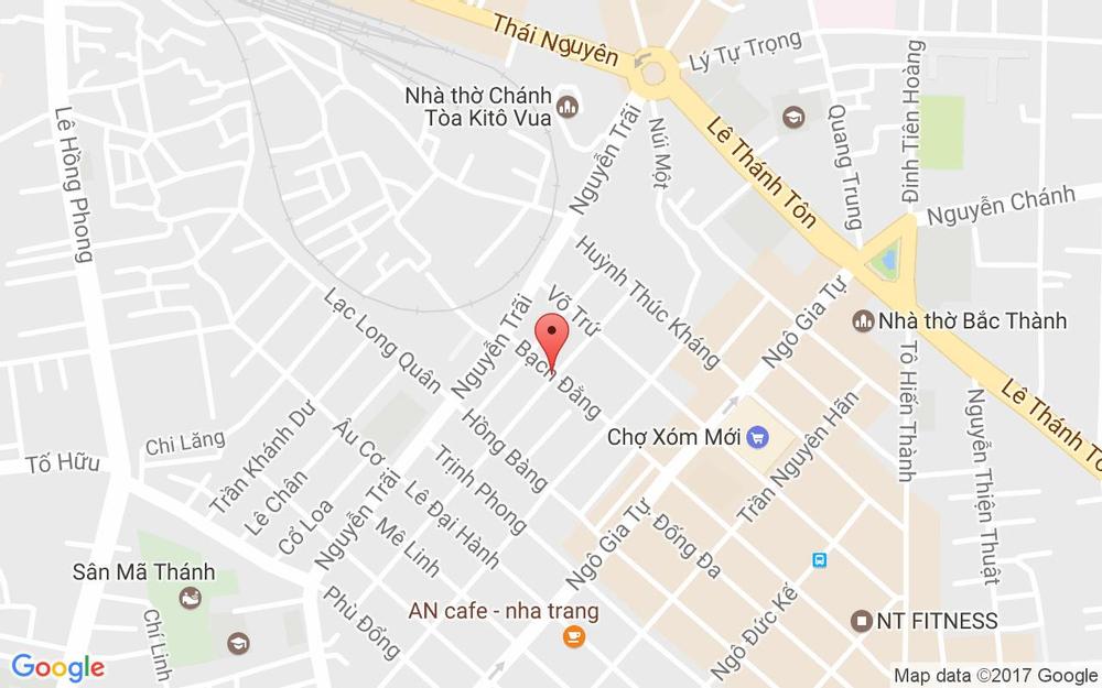 Vị trí bản đồ Bạch Đằng, P. Phước Tiến Tp. Nha Trang Khánh Hoà