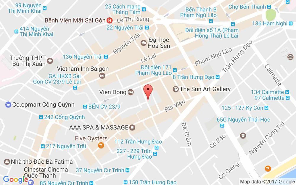 Vị trí bản đồ 241/33 Phạm Ngũ Lão, P. Phạm Ngũ Lão Quận 1 TP. HCM