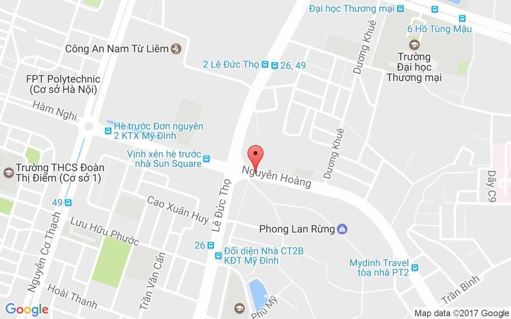 Vị trí bản đồ 113 Nguyễn Hoàng Quận Nam Từ Liêm Hà Nội