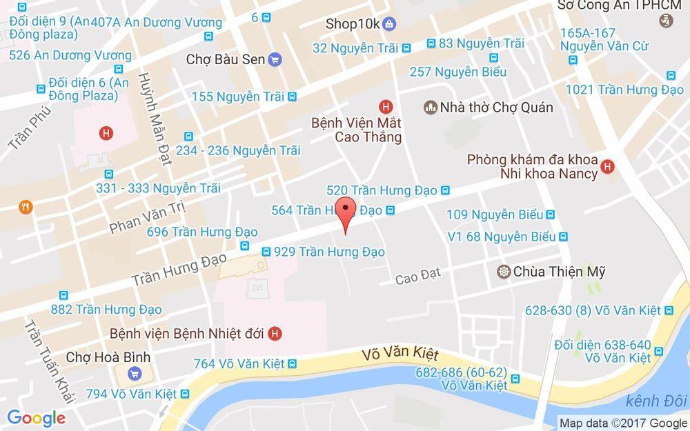 Vị trí bản đồ 873A Trần Hưng Đạo, P. 1 Quận 5 TP. HCM