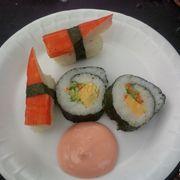 kimbap, sushi: 5 - 10k