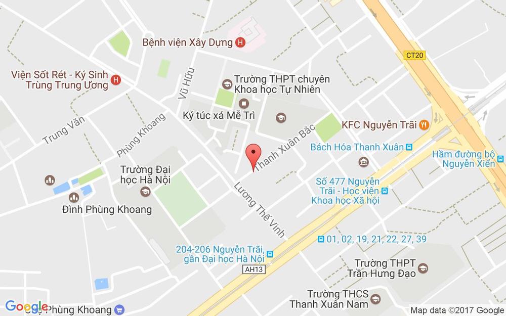 Vị trí bản đồ Ngõ 116 Lương Thế Vinh (Ngõ 811 Nguyễn Quý Đức), P. Thanh Xuân Bắc Quận Thanh Xuân Hà Nội