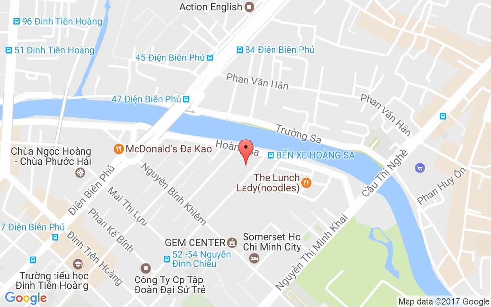 Vị trí bản đồ 1C2 - 1C3 Nguyễn Đình Chiểu, P. Đa Kao Quận 1 TP. HCM