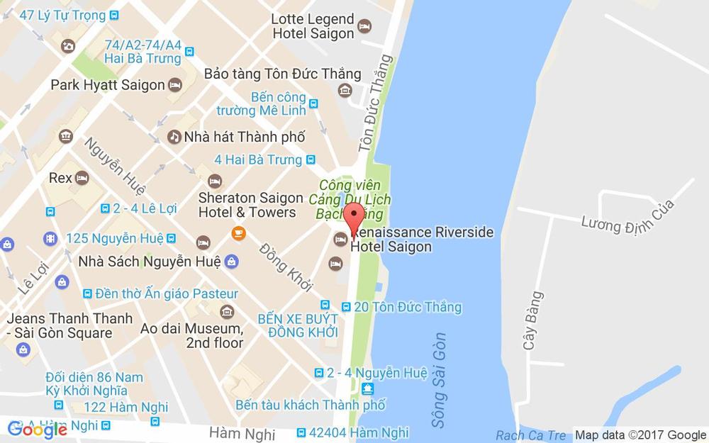 Vị trí bản đồ 8 - 15 Tôn Đức Thắng, P. Bến Nghé Quận 1 TP. HCM