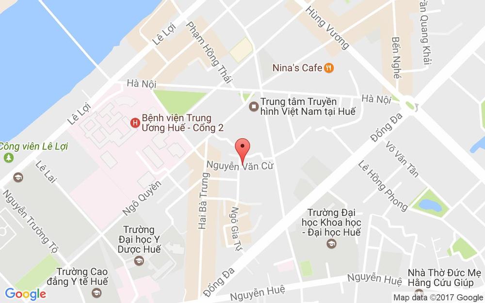 Vị trí bản đồ 12 Nguyễn Văn Cừ Tp. Huế Huế