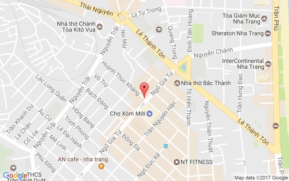 Vị trí bản đồ 91 Huỳnh Thúc Kháng Tp. Nha Trang Khánh Hoà