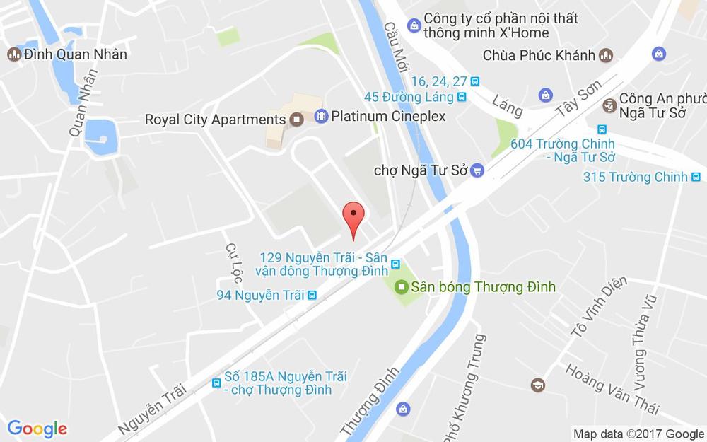 Vị trí bản đồ Tầng B2, Khu R4, Royal City, 72A Nguyễn Trãi Quận Thanh Xuân Hà Nội