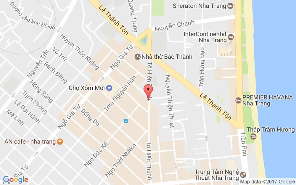 Vị trí bản đồ 12 Tô Hiến Thành Tp. Nha Trang Khánh Hoà