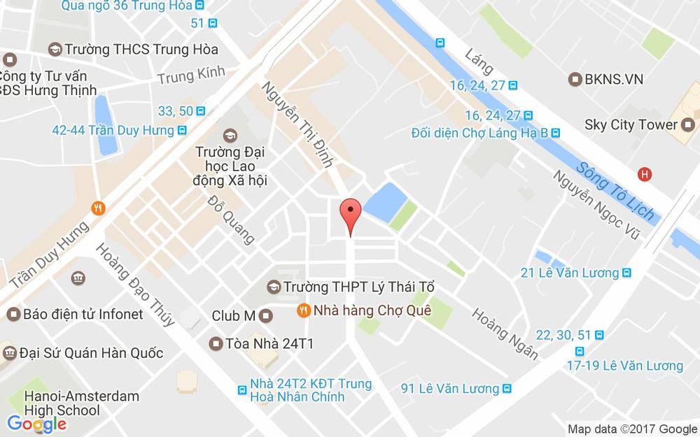 Vị trí bản đồ 36 Nguyễn Thị Định Quận Thanh Xuân Hà Nội