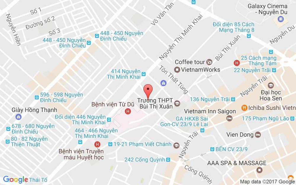 Vị trí bản đồ 8 Lương Hữu Khánh, P. Phạm Ngũ Lão Quận 1 TP. HCM