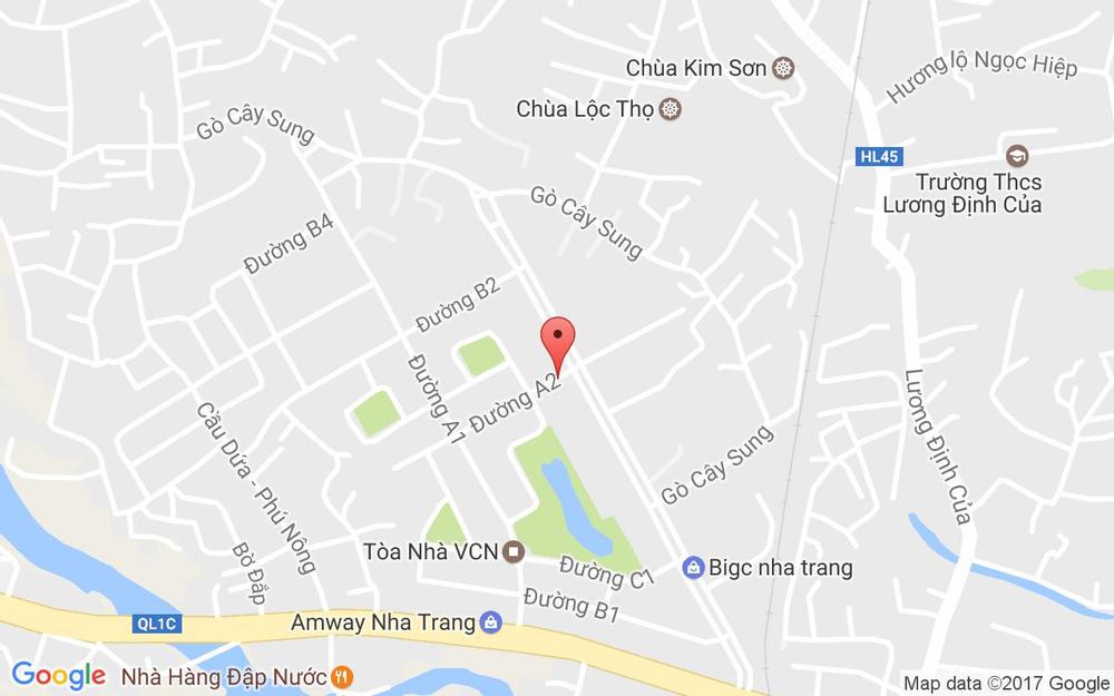 Vị trí bản đồ Đường A2, KDC Vĩnh Điềm Trung Tp. Nha Trang Khánh Hoà