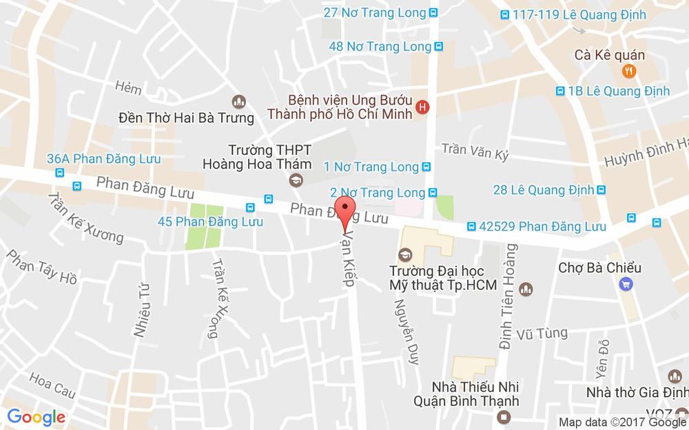 Vị trí bản đồ 4 Vạn Kiếp, P. 3 Quận Bình Thạnh TP. HCM