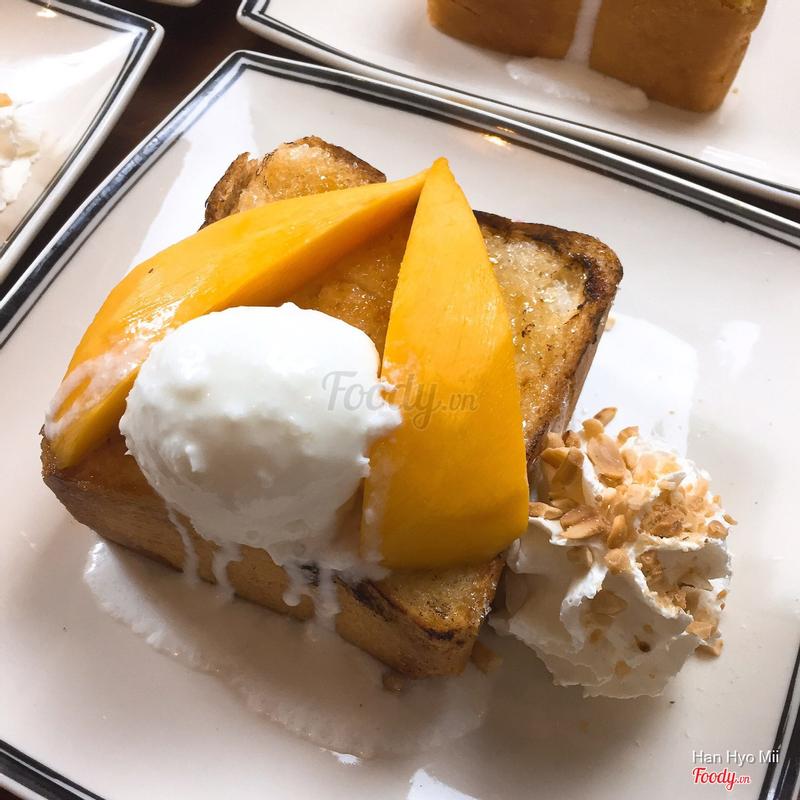 bánh toast kem xoài