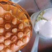 Combo bánh trứng gà non + sữa chua hoa quả