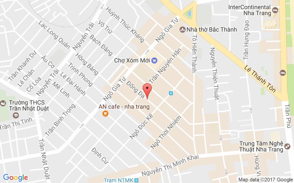 Vị trí bản đồ 42 Đống Đa Tp. Nha Trang Khánh Hoà