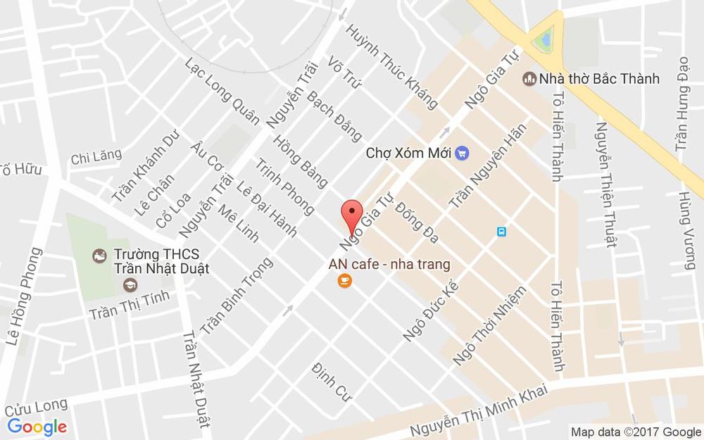 Vị trí bản đồ 123 Ngô Gia Tự Tp. Nha Trang Khánh Hoà
