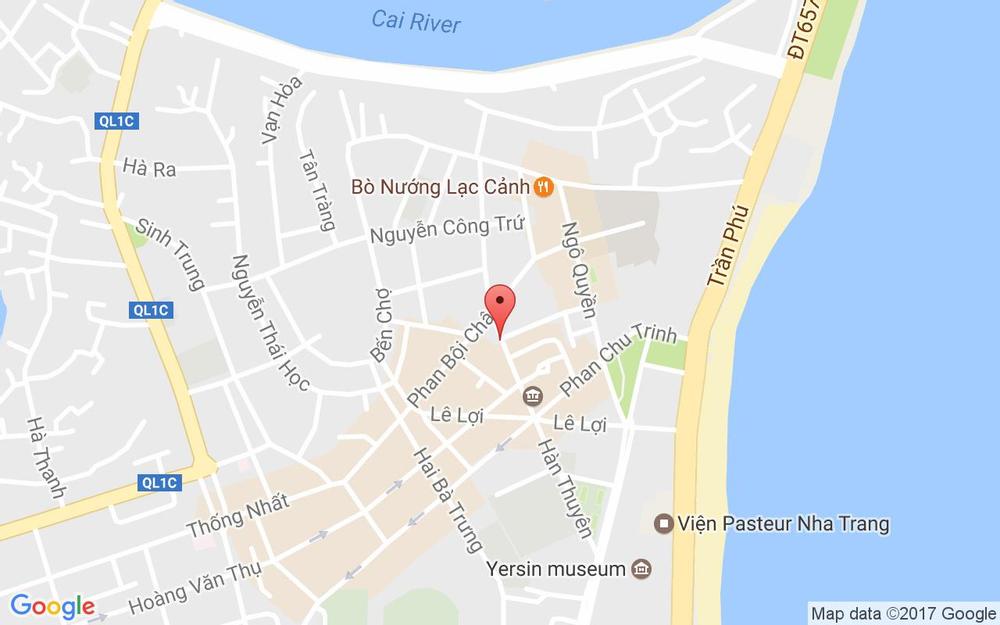 Vị trí bản đồ 6 Hàn Thuyên Tp. Nha Trang Khánh Hoà