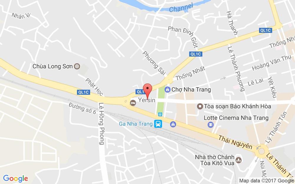 Vị trí bản đồ 87 Yersin Tp. Nha Trang Khánh Hoà
