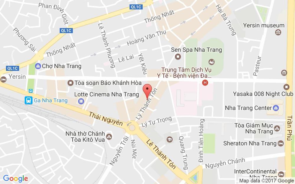 Vị trí bản đồ 76 Lý Thánh Tôn, P. Vạn Thắng Tp. Nha Trang Khánh Hoà