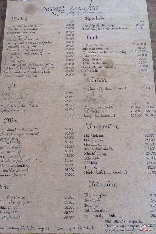 Binh minh restaurant menu / Rain shower heads with lights