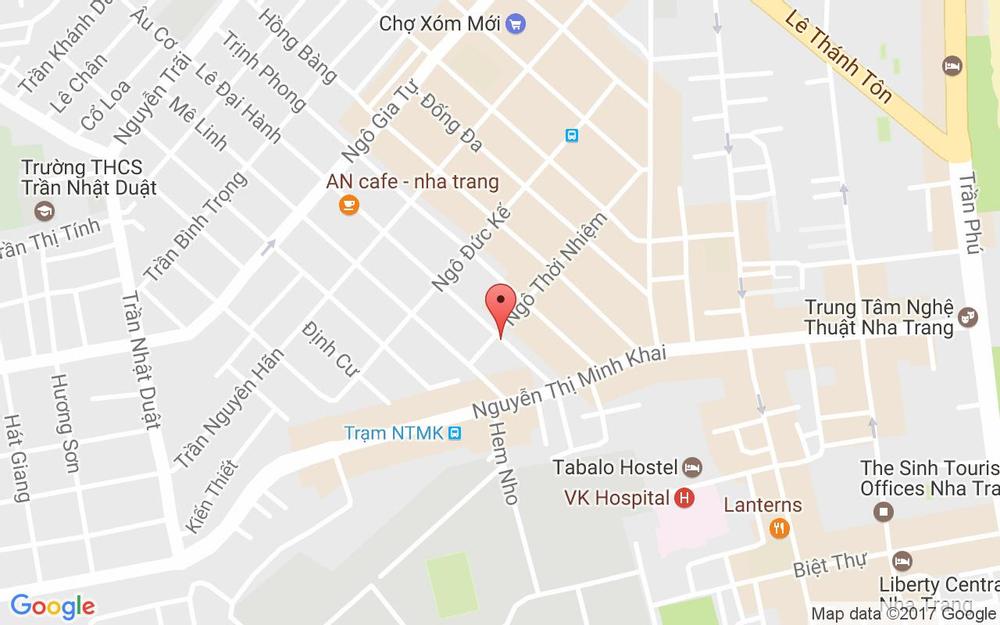 Vị trí bản đồ 77A Lê Đại Hành Tp. Nha Trang Khánh Hoà