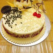 Bánh của akiko k có j phải chê r. Cả 1 chiếc bánh ntn kèm thêm nến khay đựg bánh và dĩa là 190k