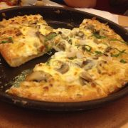 Seafood Pesto Crunchy Crust Pizza