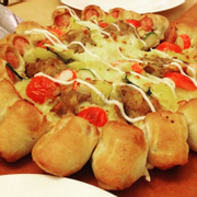 Crab Tamarind Sausage Crust Pizza