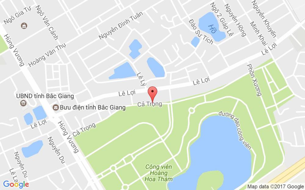 Vị trí bản đồ 155 Cả Trọng, P. Hoàng Văn Thụ Tp. Bắc Giang Bắc Giang