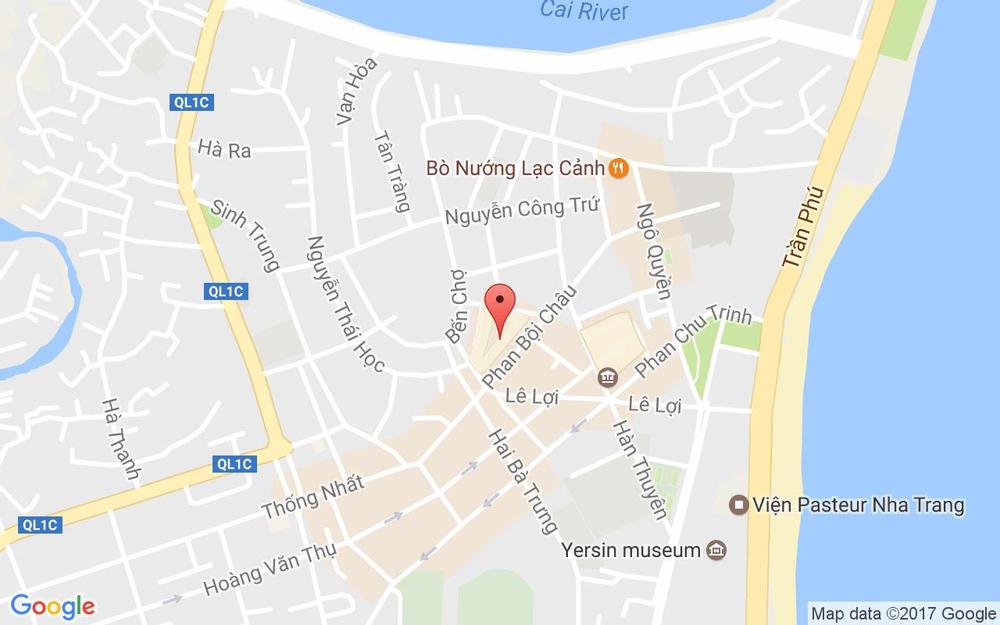 Vị trí bản đồ C4 C/c Chợ Đầm, Phan Bội Châu Tp. Nha Trang Khánh Hoà