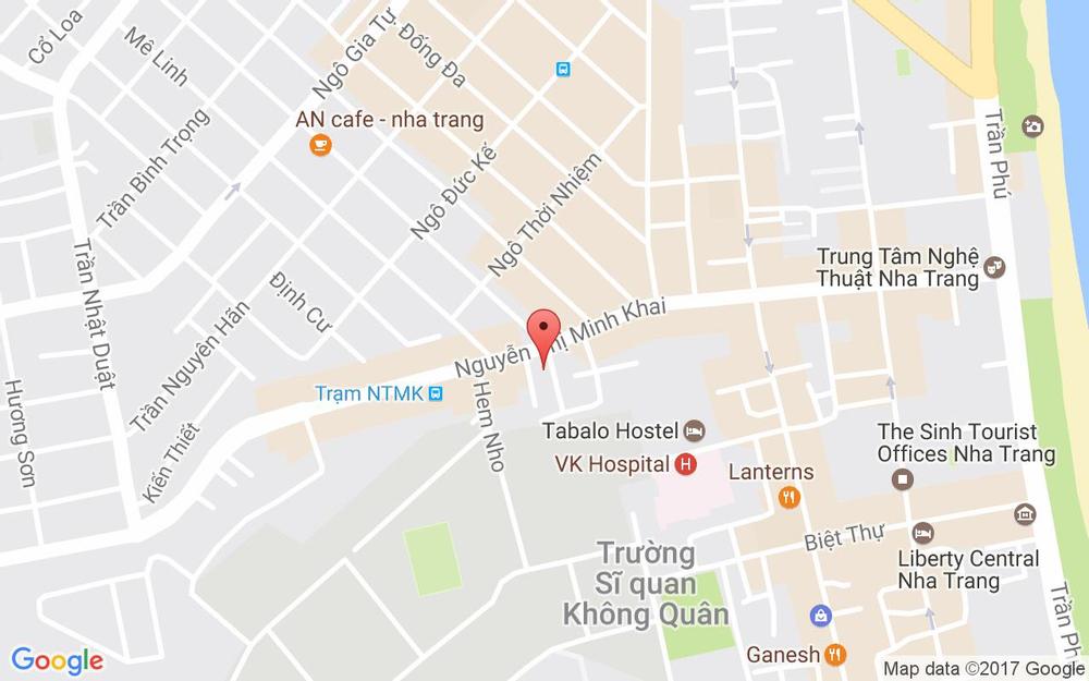Vị trí bản đồ 75A Nguyễn Thị Minh Khai, P. Tân Lập Tp. Nha Trang Khánh Hoà