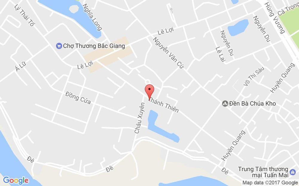 Vị trí bản đồ 121 Thánh Thiên, P. Lê Lợi Tp. Bắc Giang Bắc Giang
