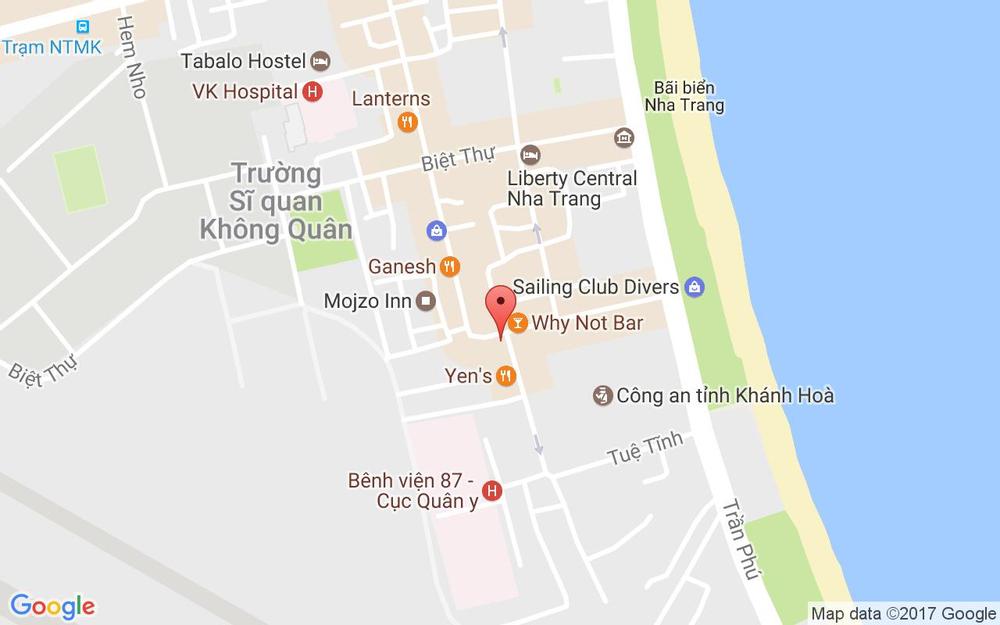 Vị trí bản đồ 3/2 Trần Quang Khải Tp. Nha Trang Khánh Hoà