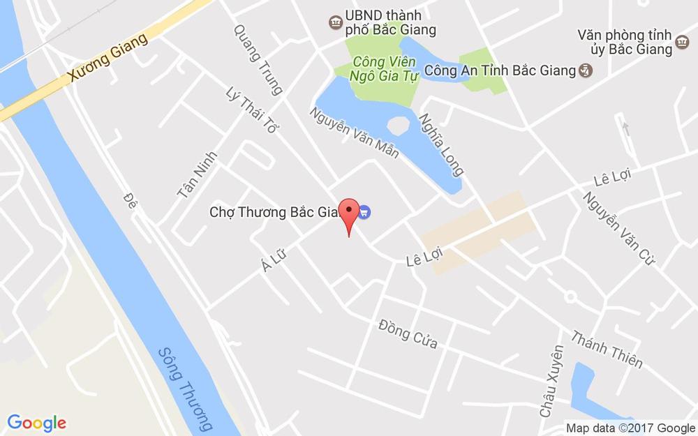 Vị trí bản đồ 182 Lý Thái Tổ, P. Trần Phú Tp. Bắc Giang Bắc Giang
