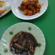 Cá kèo và thịt kho trứng