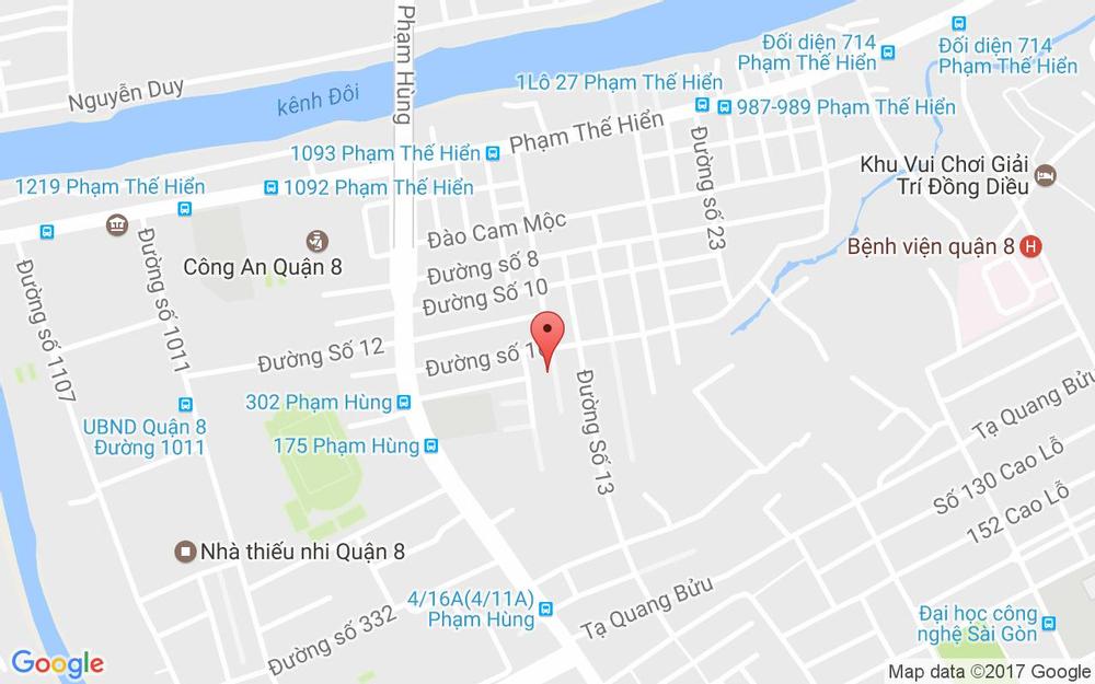 Vị trí bản đồ 54 Đông Hồ, P. 4 Quận 8 TP. HCM